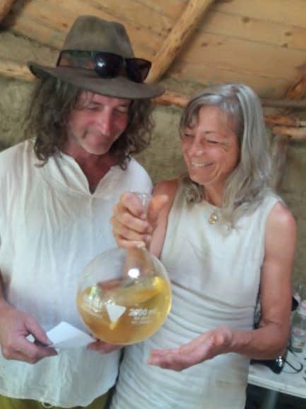 Evelin und Rainer bei der chymnischen Hochzeit Alchemie und Spagyrik