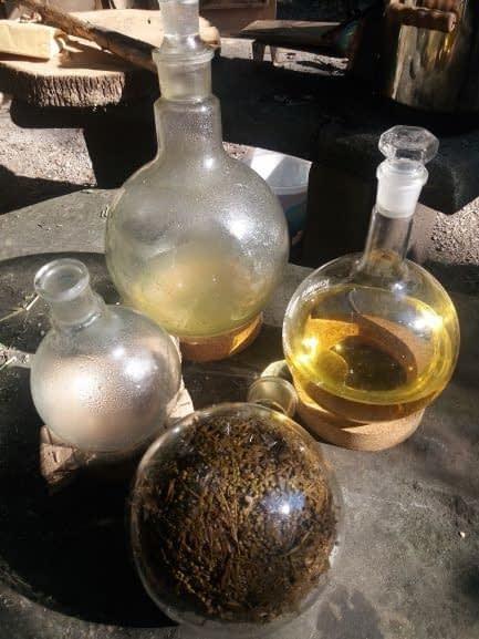 Zwischenprodukte Alchemie und Spagyrik